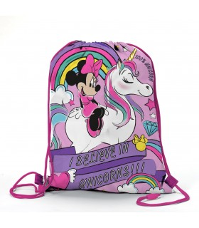 Zaino Piatto Unicorno Minnie in Poliestere