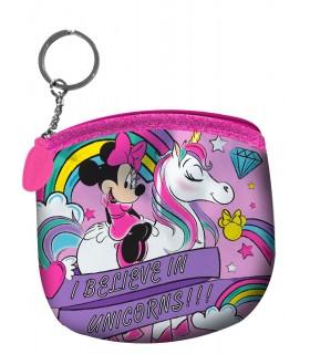 Portamonete Portachiavi  Unicorno Minnie in Poliestere