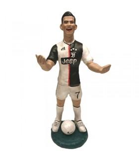 Statua Cristiano Ronaldo H.17 cm Interamente Realizzata a mano