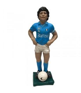 Statuina in Terracotta Diego Armando Maradona SSC Napoli H.17 cm Interamente realizzato a mano