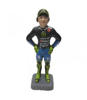 Statuina Valentino Rossi in Terracotta H.17 cm Interamente realizzata a mano