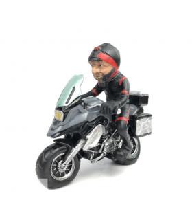 "Caricatura Mestieri ""Il Pilota su moto BMW """