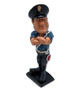 """Caricatura Mestieri """"Il Poliziotto"""" H. 15 cm."""