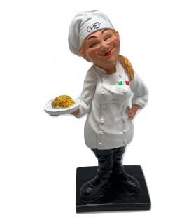"""Caricatura Mestieri """"La Chef Donna"""" H.16 cm"""