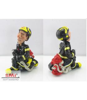 "Caricature Mestieri ""Pompiere "" H.15 cm"