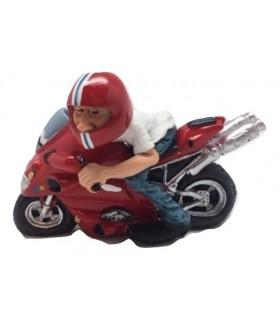 """Caricature Mestieri """"Il Pilota con Moto da Corsa"""""""