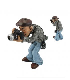 """Caricature Mestieri """"Il Fotografo"""" H. 15 cm"""