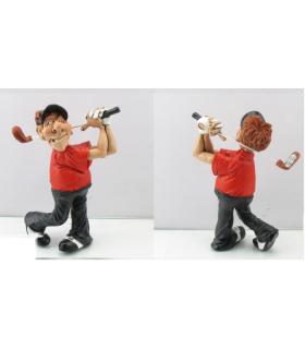 "Caricature Mestieri ""Golfista Swing"" H. 15 cm"