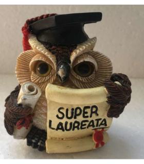 "Statuina in Resina Gufetto ""Super Laureata"" H.6 cm"
