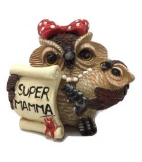 Statuina in Resina Gufetta Super Mamma H.6 cm