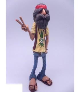 """Caricatura Hippie """"Peace Man"""" H.18 cm"""