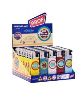 Accendino Prof Turbo Flame Fiat conf. 50 pz. assortito con 5 colori