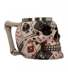 Tazza con Teschio Dead Man's in Resina interno in Acciaio confezionata in scatola da regalo
