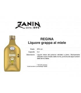 Distillati Mignon Zanin Regina Liquore Grappa al Miele 25° da 5cl Cartone da 12 pz.