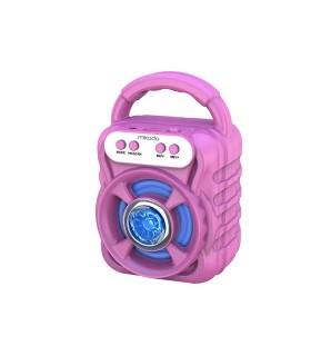 Speaker Bluetooth Mikado Portatile Potenza 5W con Batteria al Litio colore Fucsia