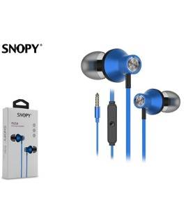 Auricolare Snopy con Microfono per Smartphone e Tablet  colore Blu