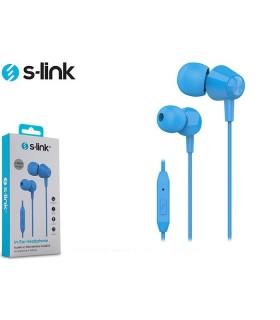 Auricolare S-Link con Microfono per Smartphone e Tablet  colore Blu