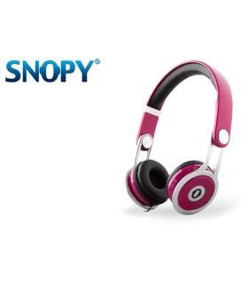 Cuffie Multimediali Snopy con Audio HD e Microfono colore Rosa