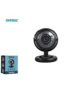 Webcam Everest con Attacco USB 300k con Microfono confezionata in scatola