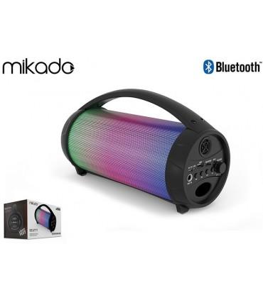 Speaker Portatile Bluetooth Mikado con Microfono e Slot per Micro SD colore Nero