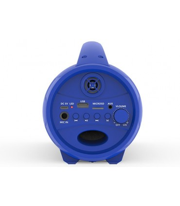 Speaker Bluetooth Mikado Portatile con Luci a Led 8W colore Blu