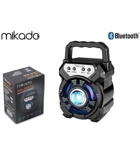 Speaker Bluetooth Mikado Portatile Potenza 5W con Batteria al Litio colore Nero