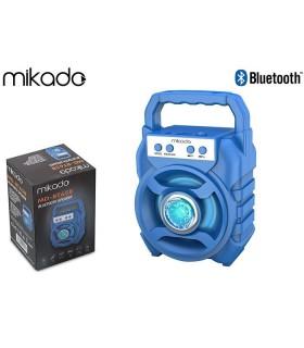 Speaker Bluetooth Mikado Portatile  Potenza 5W con Batteria al Litio colore Blu