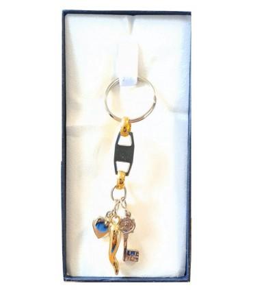 Portachiavi Predan Corno + Chiave + Cuore in Metallo in scatola da regalo