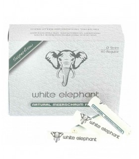 Filtro per Pipa Elephant Meerschaum Naturali 9mm conf. 10 pz. da 40 filtri