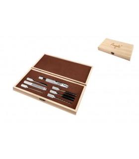 Set 7 pezzi per Pulizia Pipe in Elegante scatola di Legno