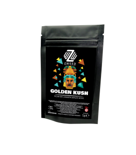 Infiorescenza di Cannabis Light GOLDEN KUSH CBD 24% bustina da 1gr