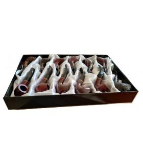 Pipe in Legno Marca Angelo  L.13 cm Set da 12 pz. Modelli Assortiti