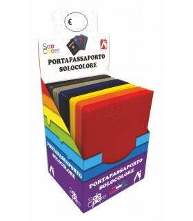 Portapassaporto in PVC colorato conf. 24 pz. colori assortito