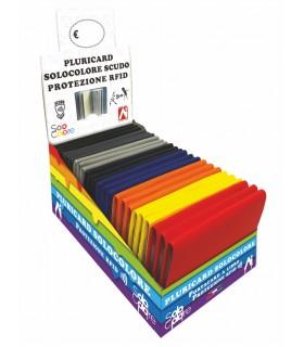 Custodia Multicard con Protezione RFID per carte Contactles  conf. 24 pz. colori assortiti