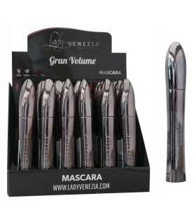 Mascara Gran Volume Lady Venezia 8ml colore nero Expo da 24 pz.