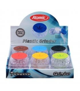 Grinder Atomic in Plastica Trasparente conf. 6 pz. colori assortiti