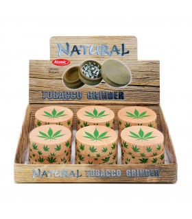 Grinder Atomic Marijuana in Legno 3 Parti conf. 6 pz. assortiti