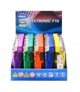 Accendino Elettronico Atomic Trasparente colorato conf. 50 pz. assortito con 5 colori