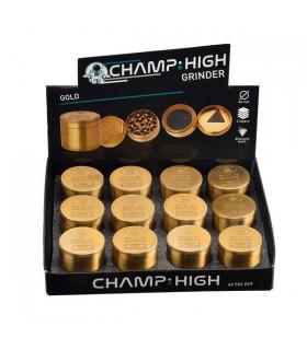 Grinder Champ Gold in Metallo 4 Parti Diam. 40 mm conf. 12 pz.