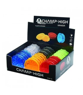 Grinder Champ Drum in Plastica  3 Parti Expo da 12 pz. assortito con 4 colori