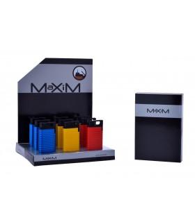 Accendino Maxim Stella Blueflame Expo da 9 pz. assortito con 3 colori