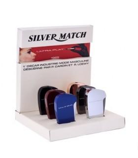 Accendino Elettronico Silver Match Piatto Expo da 6 pz. colori assortiti