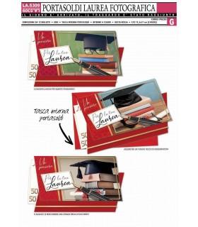 Biglietto Cromo Laurea Portasoldi conf. 12 pz. assortito
