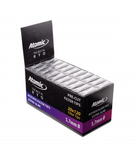 Filtri Atomic  Ultra Slim 5.7mm conf. 20 astucci da 120 filtri