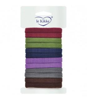 Elastici per Capelli Le Kikke Diam.4.5 cm Blister 12pz. colore assortiti conf. 12 blister