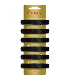 Fermaglio Matik per Capelli Le Kikke Rettangolare conf.6 pz. colore Nero