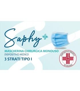 Mascherine Chirurgiche Protettive Bambino/a Tipo I Monouso 3 Strati conf. 50 pz. (imballate in blister da 10 pz.)