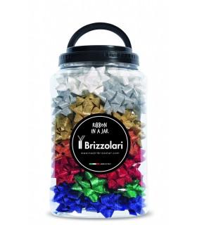 Coccarde Lucide Brizzolari Diametro 6S mm Barattolo 70 pz. colori pastello