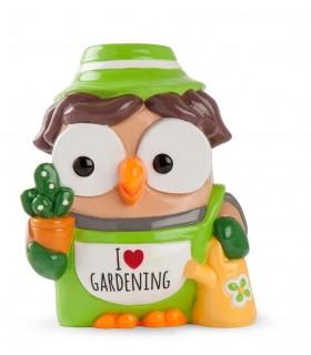"""Salvadanaio Goofi Egan in Ceramica """"I Love Gardening""""  mis.8x10"""