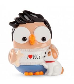 """Salvadanaio Goofi Egan in Ceramica """"I Love Dogs""""  mis.8x10"""